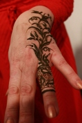 Henna flower ring by Maija Liepa